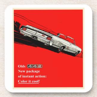 Oldsmobile 442 vintage advertisement drink coaster