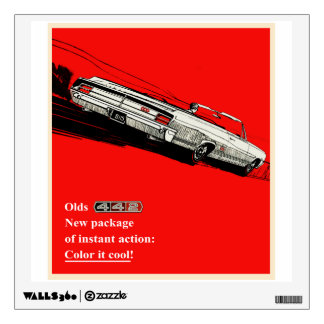 Oldsmobile 442 vintage advertisement wall sticker