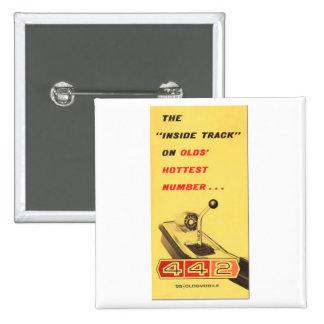 Oldsmobile 442 - vintage folder page reproduction pin