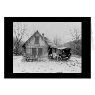 Oldsmobile Log Cabin 1920 Greeting Card