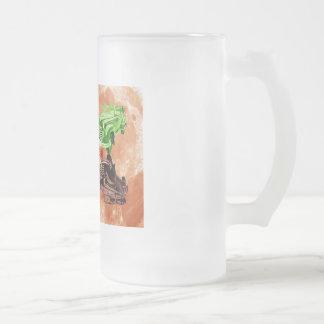 Oldsmobile Moon Frosted Glass Beer Mug