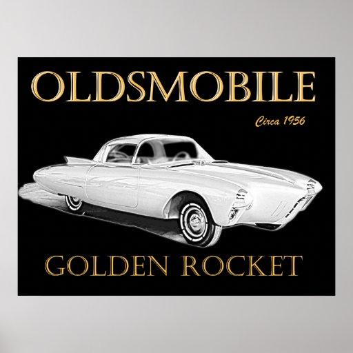 Oldsmobile Rocket de oro Póster