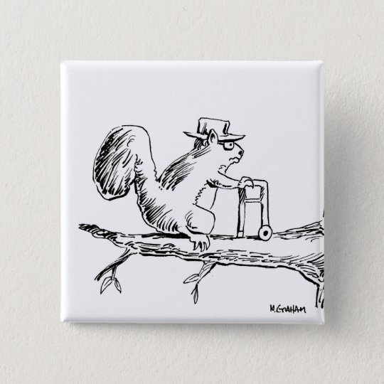 OLDSQUIRREL, GETTIN' ALONG PINBACK BUTTON