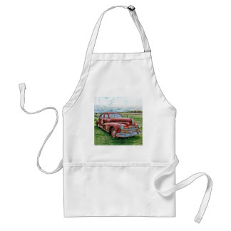 Oldsters Classic Car Vintage Automobile Old Rusty Adult Apron