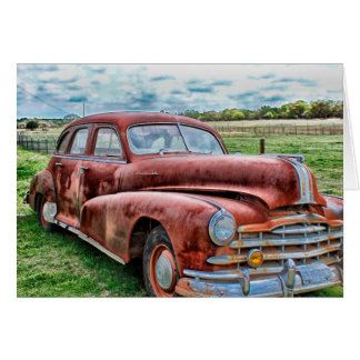 Oldsters Classic Car Vintage Automobile Old Rusty Greeting Card