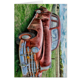 Oldsters Classic Car Vintage Automobile Old Rusty Stationery Note Card