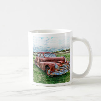 Oldsters Classic Car Vintage Automobile Old Rusty Classic White Coffee Mug