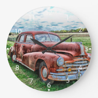 Oldsters Classic Car Vintage Automobile Old Rusty Wallclock