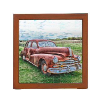 Oldsters Classic Car Vintage Automobile Old Rusty Desk Organizer