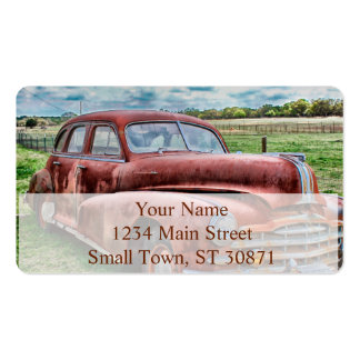 Oldsters Classic Car Vintage Automobile Old Rusty Double-Sided Standard Business Cards (Pack Of 100)