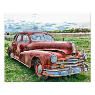 """Oldsters Classic Car Vintage Automobile Old Rusty 4.5"""" X 5.6"""" Flyer"""