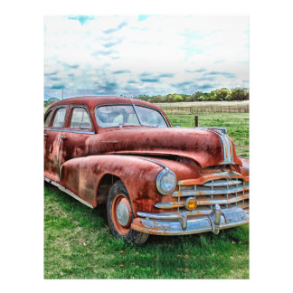 """Oldsters Classic Car Vintage Automobile Old Rusty 8.5"""" X 11"""" Flyer"""