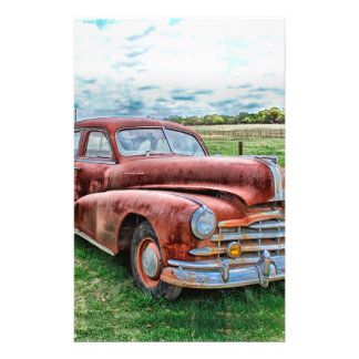 """Oldsters Classic Car Vintage Automobile Old Rusty 5.5"""" X 8.5"""" Flyer"""