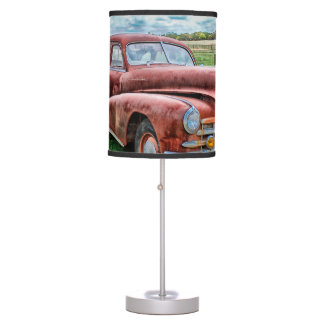 Oldsters Classic Car Vintage Automobile Old Rusty Desk Lamp
