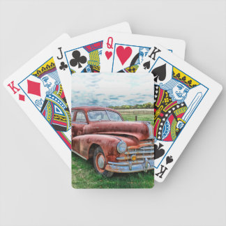 Oldsters Classic Car Vintage Automobile Old Rusty Bicycle Playing Cards