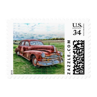 Oldsters Classic Car Vintage Automobile Old Rusty Postage Stamps