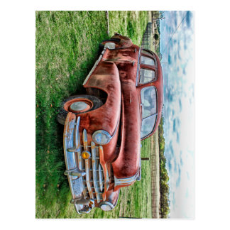 Oldsters Classic Car Vintage Automobile Old Rusty Postcard