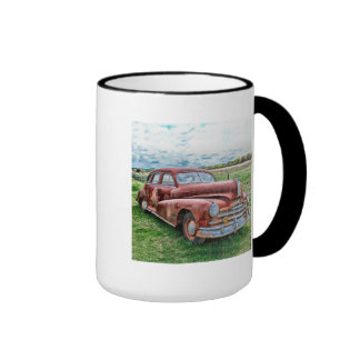 Oldsters Classic Car Vintage Automobile Old Rusty Ringer Coffee Mug
