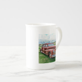 Oldsters Classic Car Vintage Automobile Old Rusty Tea Cup
