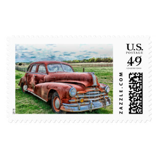 Oldsters Classic Car Vintage Automobile Old Rusty Stamp