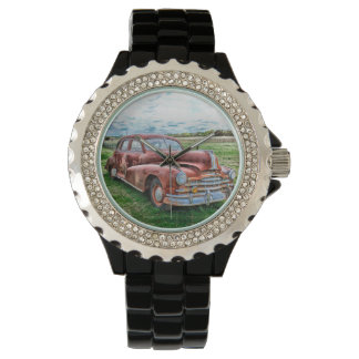 Oldsters Classic Car Vintage Automobile Old Rusty Wrist Watch