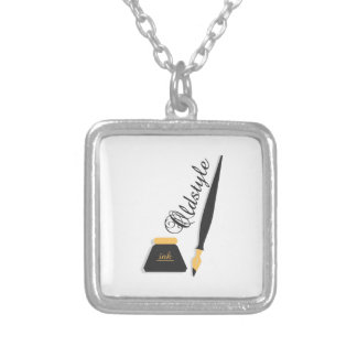 Oldstyle Square Pendant Necklace