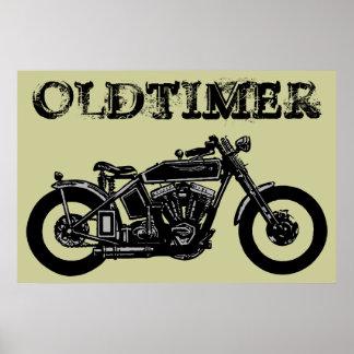 Oldtimer Bike Poster