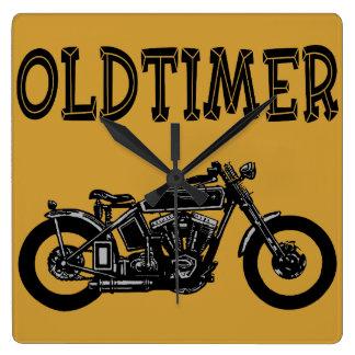 Oldtimer Bike Square Wall Clock