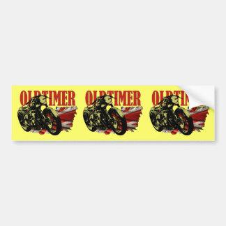 Oldtimer Bobber Car Bumper Sticker