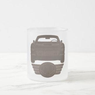 Oldtimer Car Frosted Glass Coffee Mug