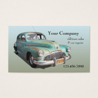 Retro mechanic business cards templates zazzle oldtimer car sales repairs business card reheart Choice Image