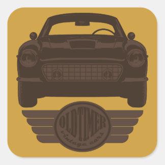 Oldtimer Car Square Sticker