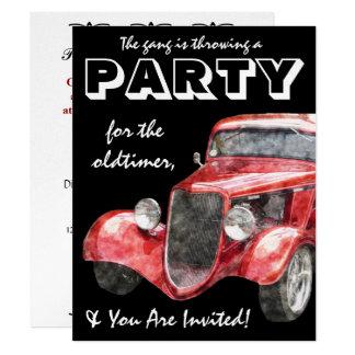 Oldtimer Retirement Party Classic Hotrod Car Card