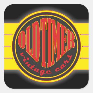 Oldtimer Vintage Cars Square Sticker
