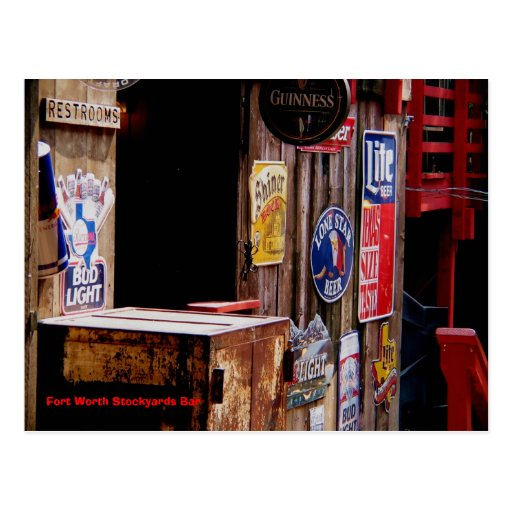 OldWest, Fort Worth Stockyards Bar Post Card