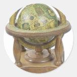 OldWorldGlobeStand052711 Etiquetas Redondas
