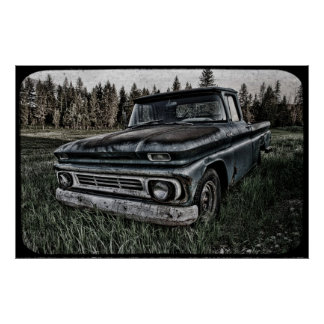 Oldy Chevy Print