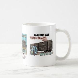 OLE BOX CAR 3 BEER COFFEE MUG