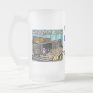 OLE BOX CAR STOUT ALE FROSTED BEER MUG