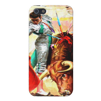 Ole! Bullfight Spanish Bull Fighter Vintage Poster Covers For iPhone 5