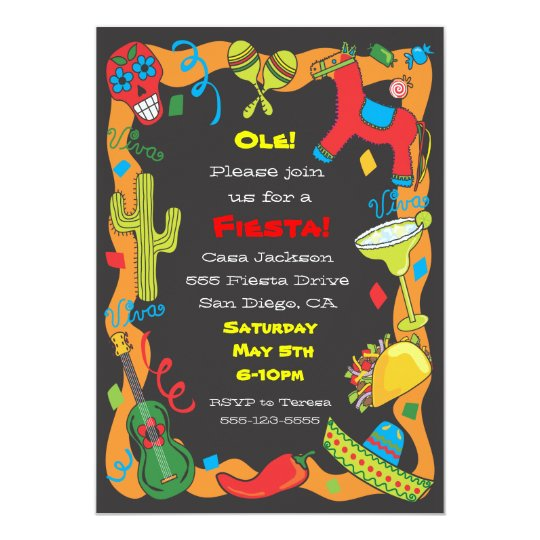 Ole Mexican Fiesta Party Invitation – Mexican Themed Party Invitations