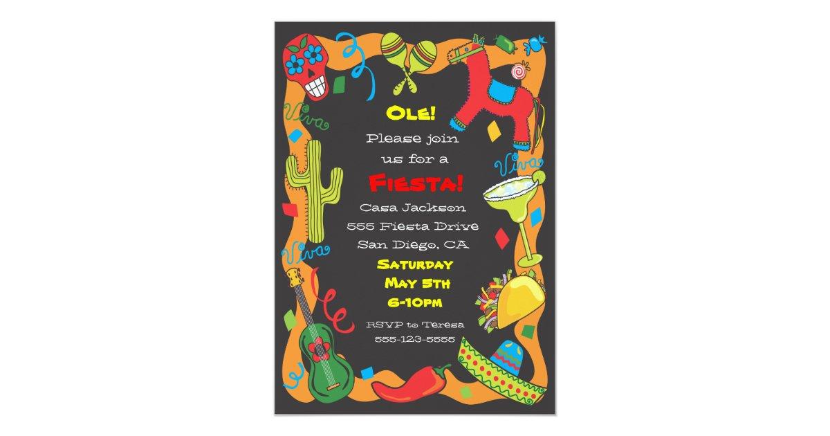 Ole! Mexican Fiesta Party Invitation | Zazzle.com