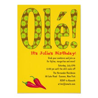 """Ole! Mexican Theme Invitation 5"""" X 7"""" Invitation Card"""