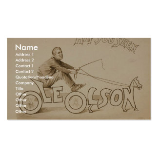 Ole Olson, 'Haf You Seen' Retro Theater Business Card Templates