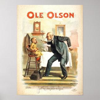 Ole Olson Vintage Poster