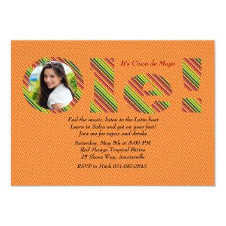 "Ole! Orange Photo Invitation 5"" X 7"" Invitation Card"