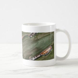 ole school guitar classic white coffee mug
