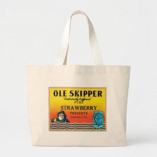 Ole Skipper Strawberry Preserve Vintage Label Tote Bag