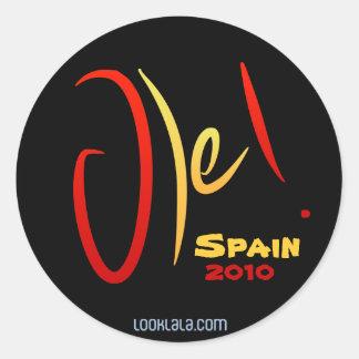 Ole, Spain, 2010 Classic Round Sticker