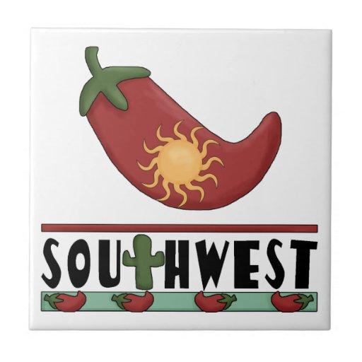 Ole! Sun Stuffed Red Chili Pepper - Chile Relleno Tile